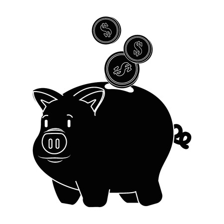 isolated piggy bank icon vector illustration graphic design