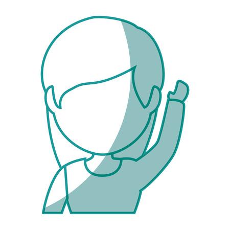 isolated cute businesswoman icon vector illustration graphic design Ilustrace
