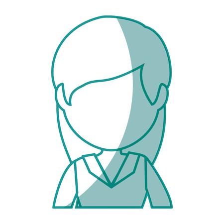 孤立したかわいい実業家アイコン ベクトル イラスト グラフィック デザイン