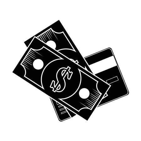 isolated money bills icon vector illustration graphic design Reklamní fotografie - 82264694
