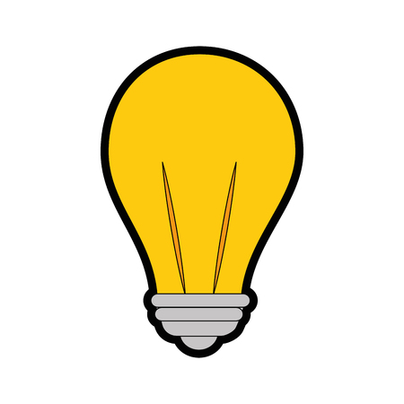 isolated light bulb icon vector illustration graphic design 向量圖像