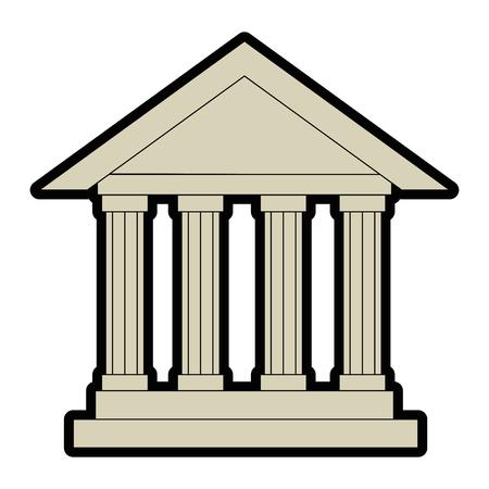 Diseño gráfico del ejemplo del vector del icono del edificio del banco aislado Foto de archivo - 82264852