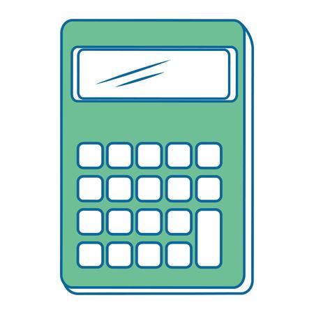 절연 책상 계산기 아이콘 벡터 일러스트 그래픽 디자인