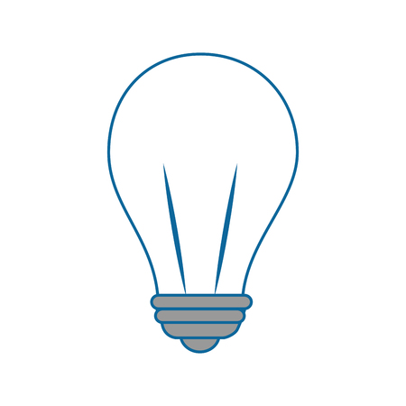 分離の電球アイコン ベクトル イラスト グラフィック デザイン