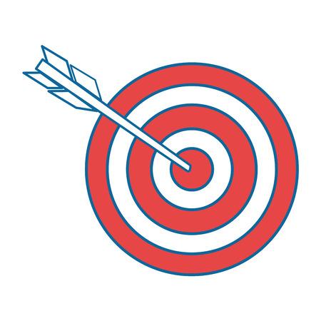 geïsoleerde doel schiet pictogram vector illustratie grafisch ontwerp