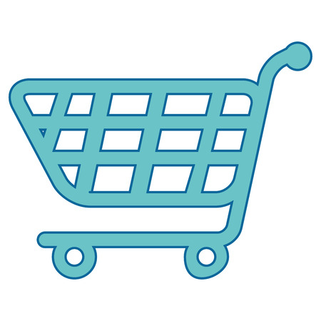 isolated supermarket cart icon vector illustration graphic design