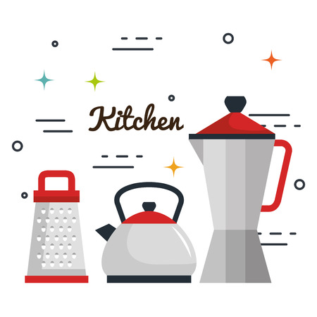 Kitchen utensils over white background vector illustration Stock fotó - 82268297