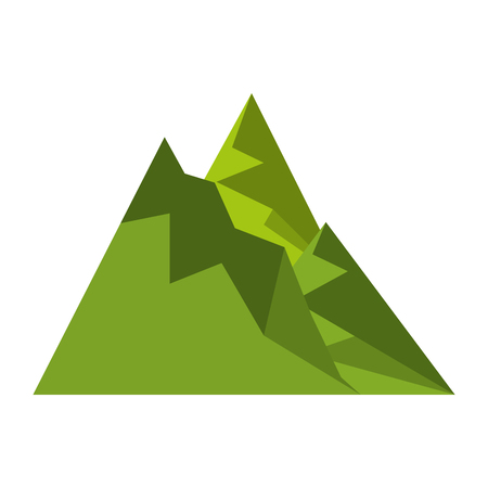 big mountains isolated icon vector illustration design