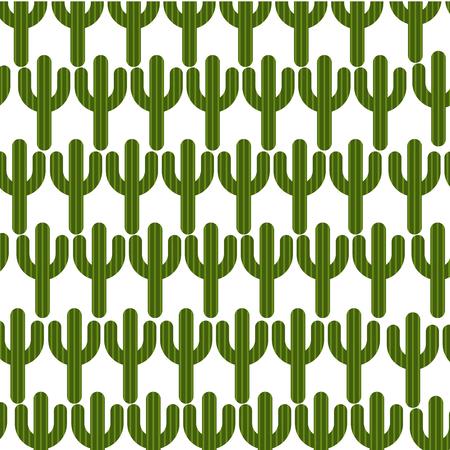 cactus plant pattern background vector illustration design Illustration