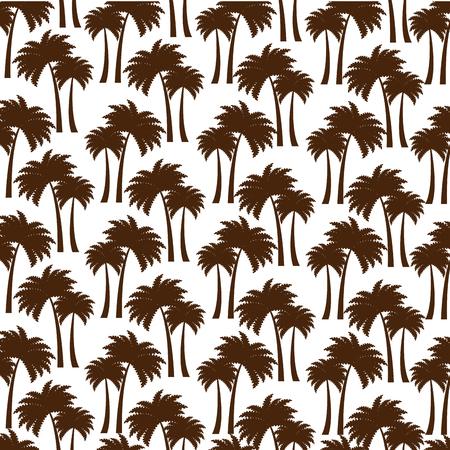 boom palmen patroon achtergrond vector illustratie ontwerp