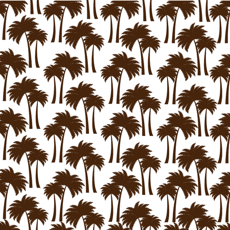 tree palms pattern background vector illustration design