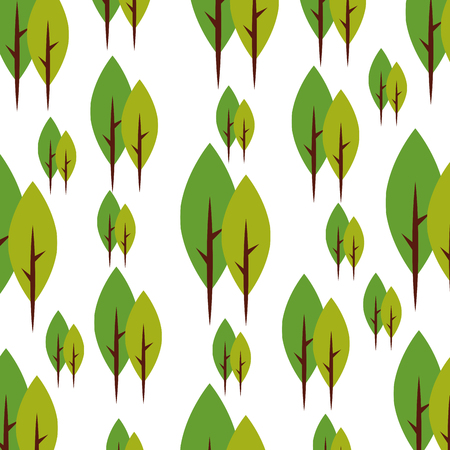 backgrouns: tree plant forest pattern background vector illustration design Illustration