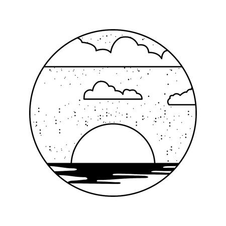 beautifu seascape summer icon vector illustration design Stock Vector - 82353517