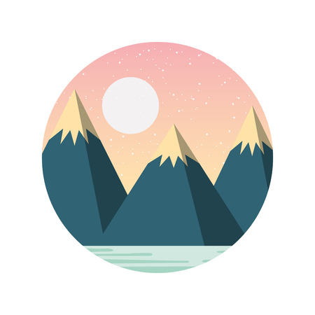 beautiful landscape with mountains vector illustration design Stock Vector - 82354222