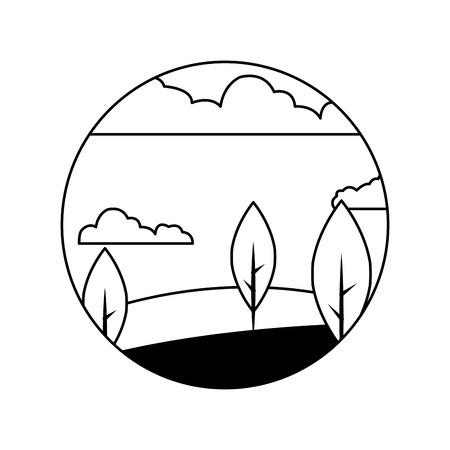beautiful forest landscape icon vector illustration design Stock Vector - 82347662