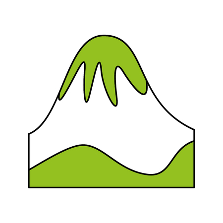 big mountains isolated icon vector illustration design Stock Vector - 82353562