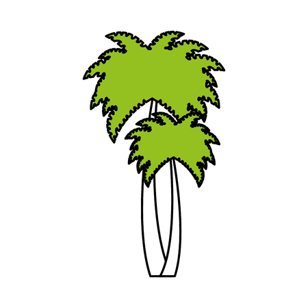 tree palms isolated icon vector illustration design Illustration