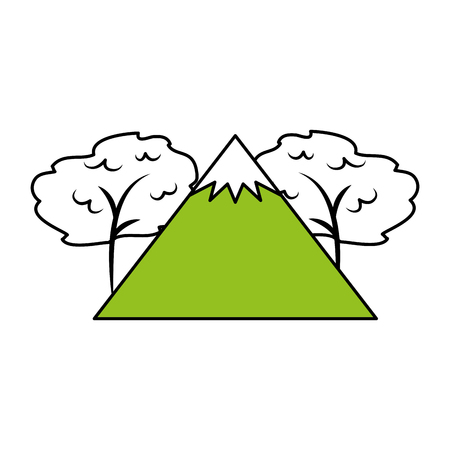 big mountains isolated icon vector illustration design Stock Vector - 82354236