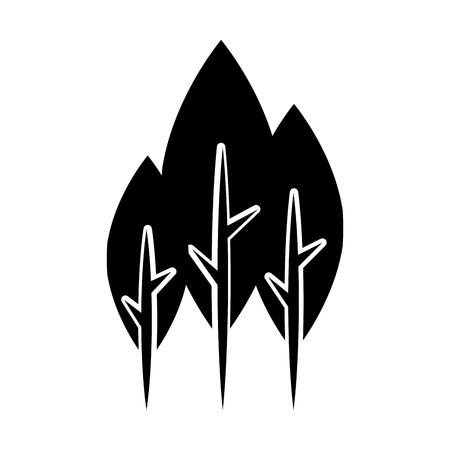 木植物の森アイコン ベクトル イラスト デザイン