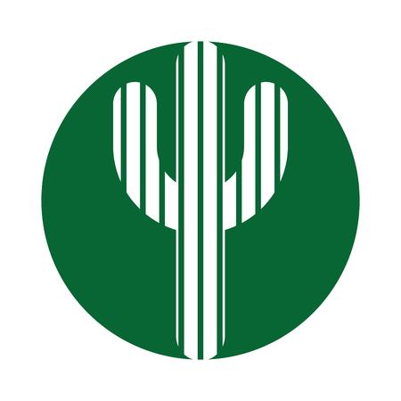 cactus plant isolated icon vector illustration design Illustration