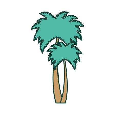 나무 손바닥 격리 된 아이콘 벡터 일러스트 디자인