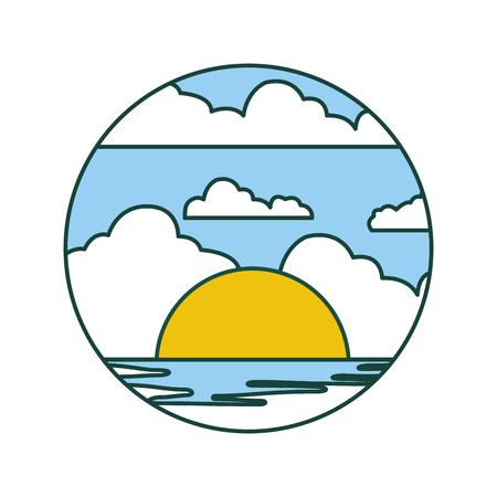 beautifu seascape summer icon vector illustration design Stock Vector - 82354512