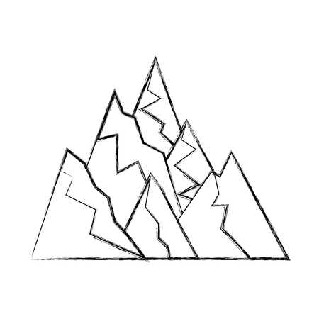 big mountains isolated icon vector illustration design Stock Vector - 82354536