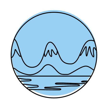 beautiful landscape with lake vector illustration design