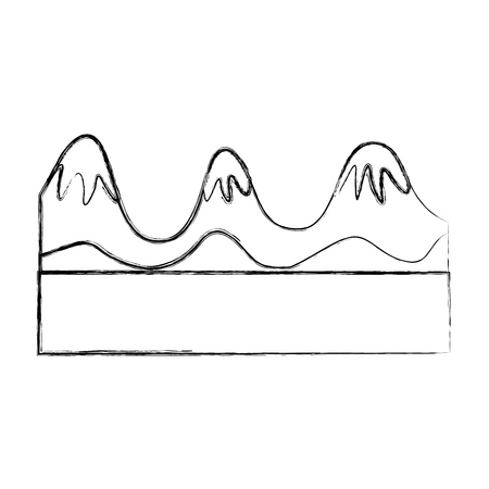 beautiful landscape with mountains vector illustration design Stock Vector - 82354948