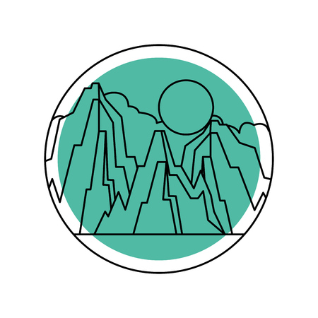 beautiful landscape with mountains vector illustration design