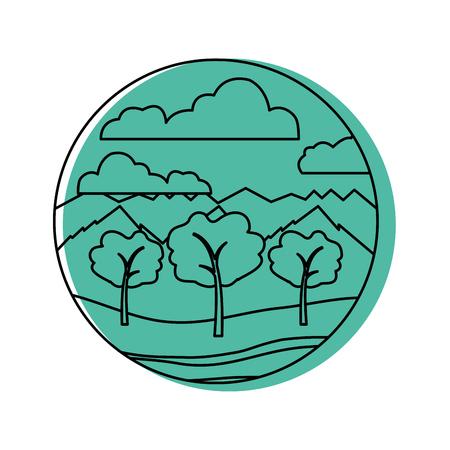 beautiful forest landscape icon vector illustration design Stock Vector - 82354865