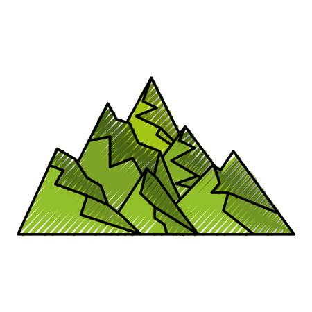 大きな山分離アイコン ベクトル イラスト デザイン