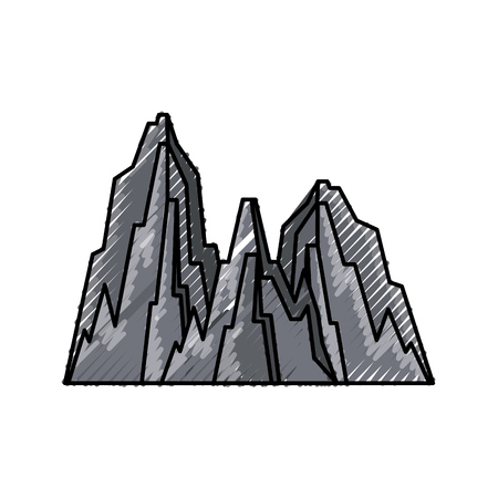 big mountains isolated icon vector illustration design Stock Vector - 82355936