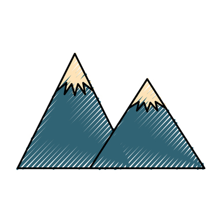 big mountains isolated icon vector illustration design Stock Vector - 82355930