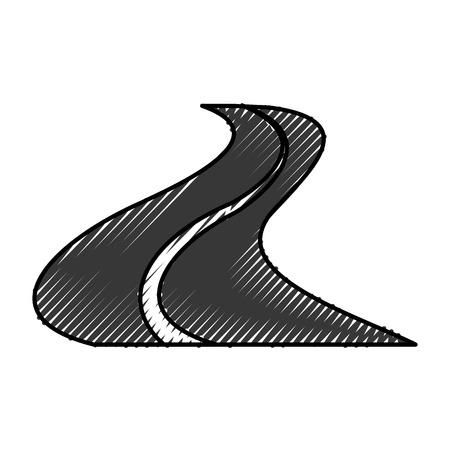weg silhouet geïsoleerd pictogram vector illustratie ontwerp