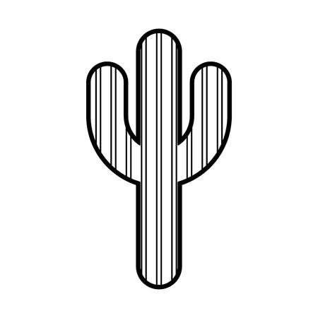 the spikes: cactus plant isolated icon vector illustration design Illustration