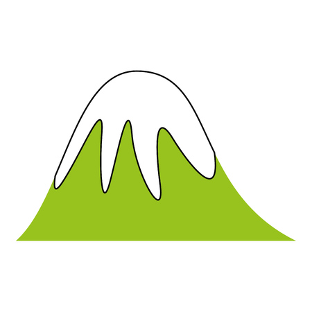 big mountains isolated icon vector illustration design Stock Vector - 82356140