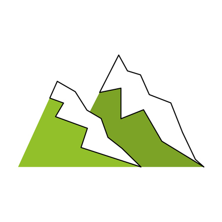 high sierra: big mountains isolated icon vector illustration design