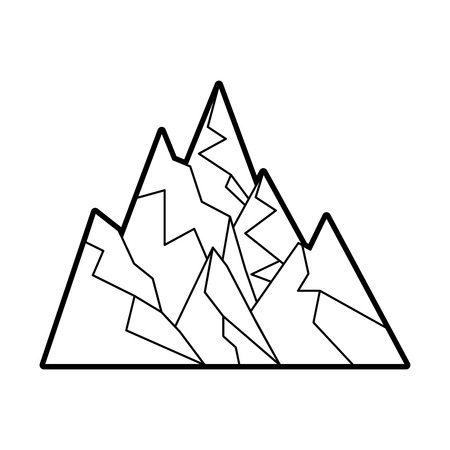 big mountains isolated icon vector illustration design Stock Vector - 82356200