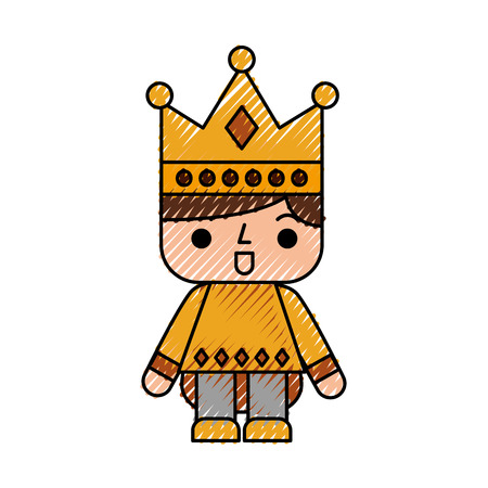 Video game prince avatar vector illustration design