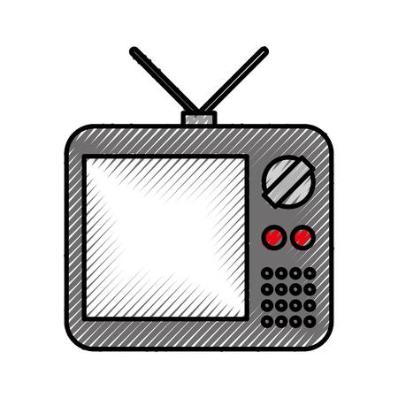 昔のテレビのアイコン ベクトル イラスト デザインを分離しました。 写真素材 - 82356466