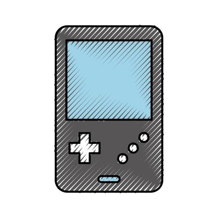 휴대용 비디오 게임 콘솔 벡터 일러스트 레이션 디자인
