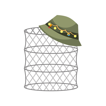 Fish trap isolated icon vector illustration design 向量圖像
