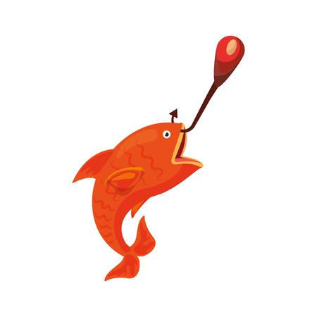 Fisch Haken isoliert Symbol Vektor-Illustration Design Standard-Bild - 82356756