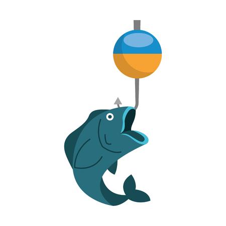 Gancho de pescado icono aislado diseño de ilustración vectorial Foto de archivo - 82356891