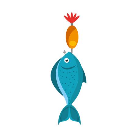 Fisch Haken isoliert Symbol Vektor-Illustration Design Standard-Bild - 82356752