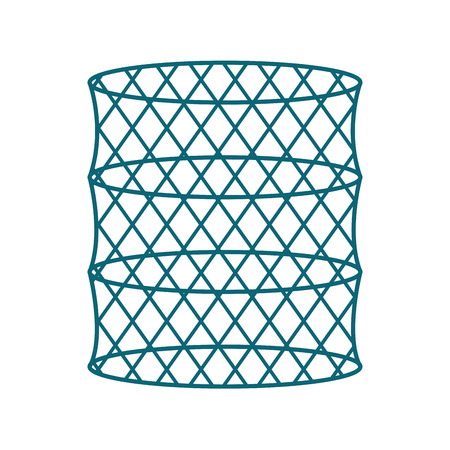 Fish trap isolated icon vector illustration design 向量圖像