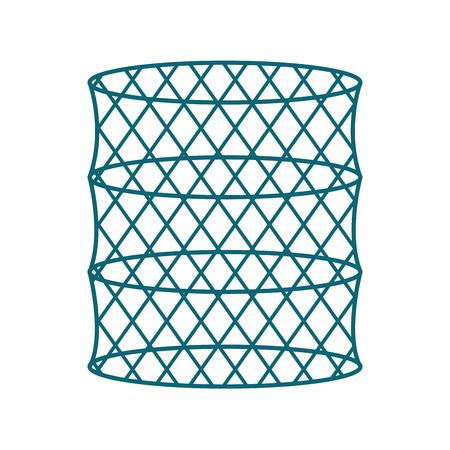 Trampa de peces icono aislado diseño de ilustración vectorial Foto de archivo - 82356999