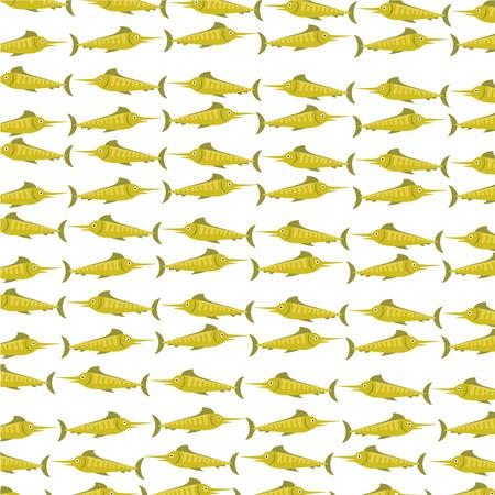Poisson de mer isolé icône illustration vectorielle design