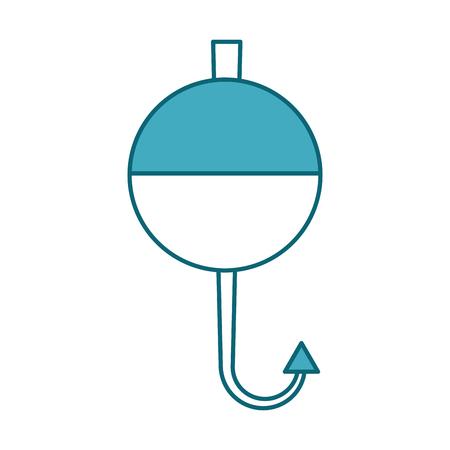 Fisch Haken isoliert Symbol Vektor-Illustration Design Standard-Bild - 82357001